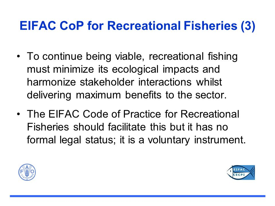 EIFAC CoP for Recreational Fisheries (3)