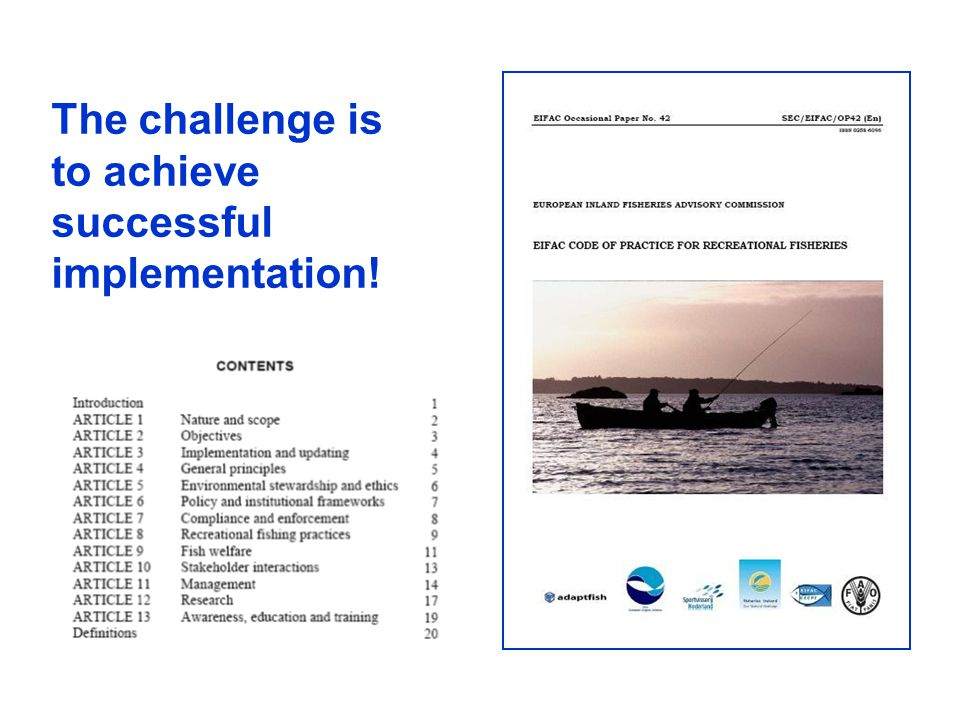 The challenge is to achieve successful implementation!