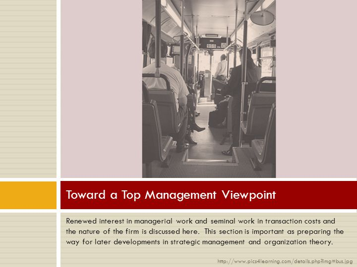 Toward a Top Management Viewpoint