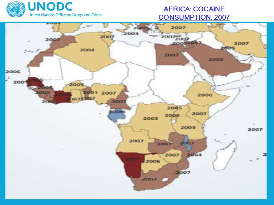 AFRICA: COCAINE CONSUMPTION, 2007