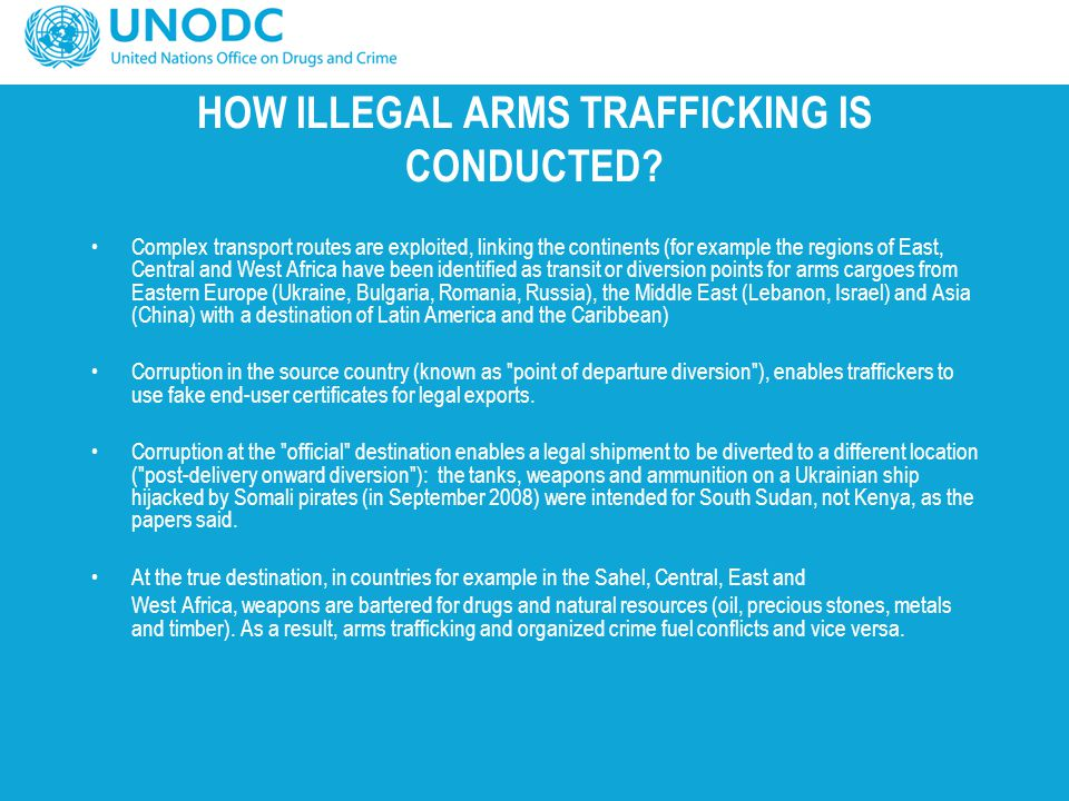 HOW ILLEGAL ARMS TRAFFICKING IS CONDUCTED