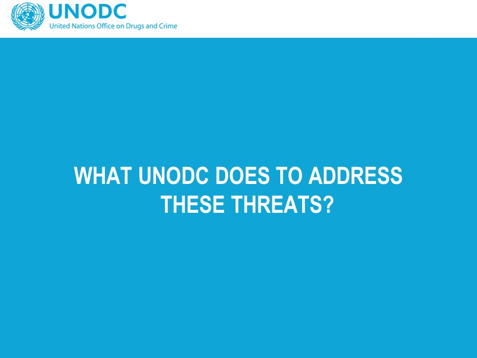 WHAT UNODC DOES TO ADDRESS THESE THREATS