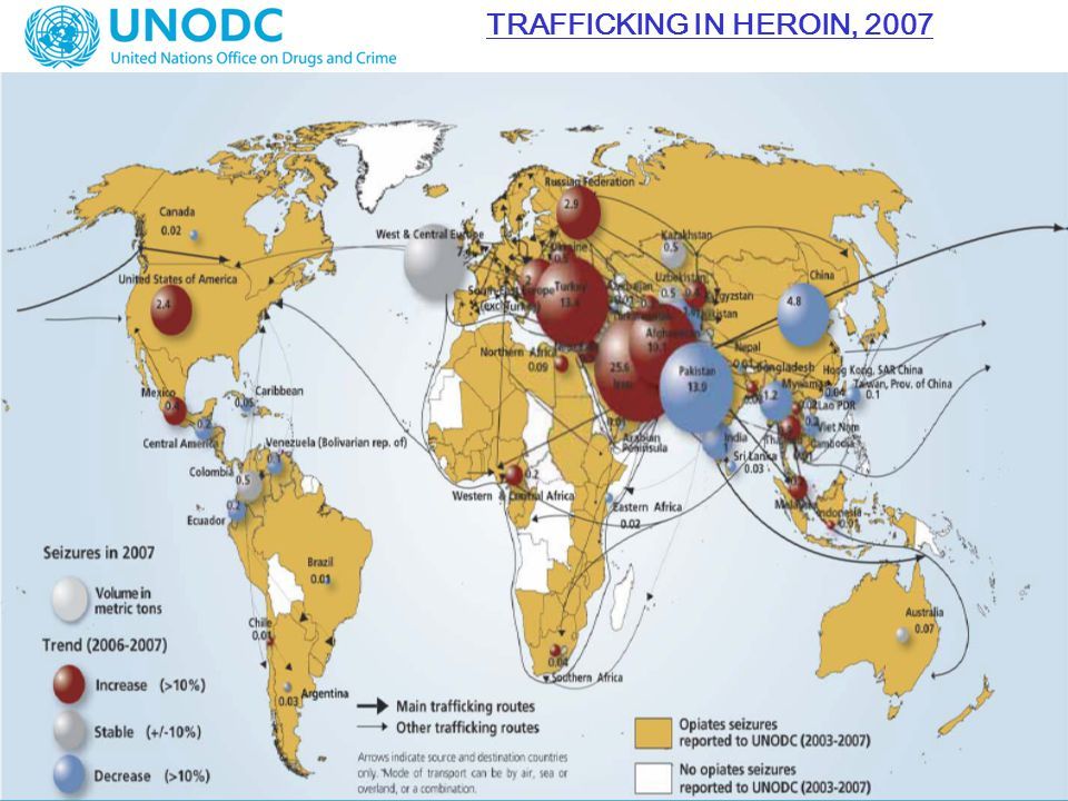 TRAFFICKING IN HEROIN, 2007