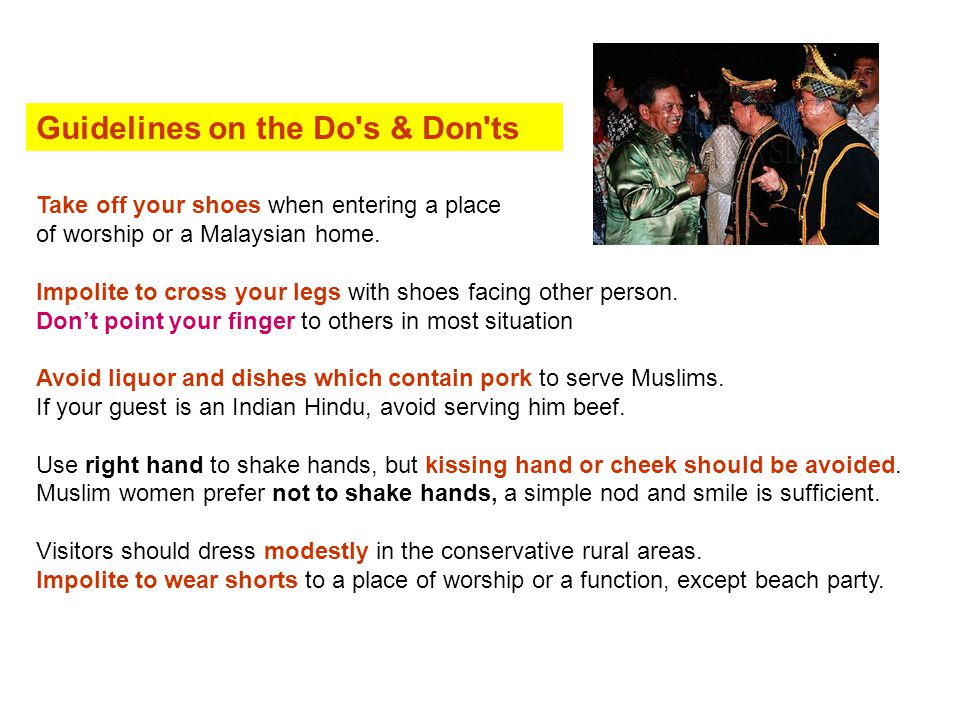 Guidelines on the Do s & Don ts