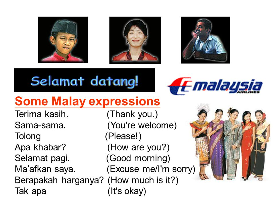 Some Malay expressions