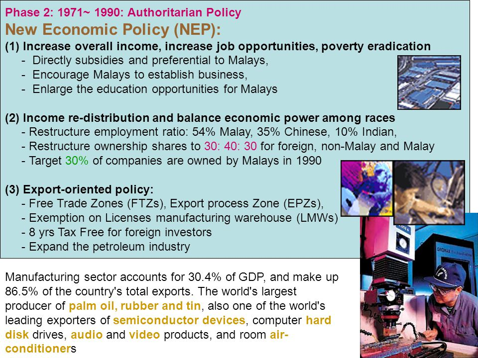 New Economic Policy (NEP):