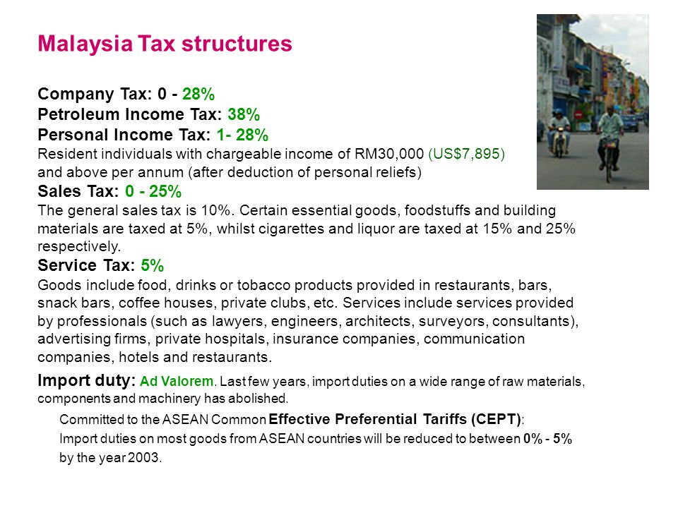 Malaysia Tax structures