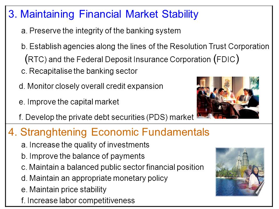 3. Maintaining Financial Market Stability