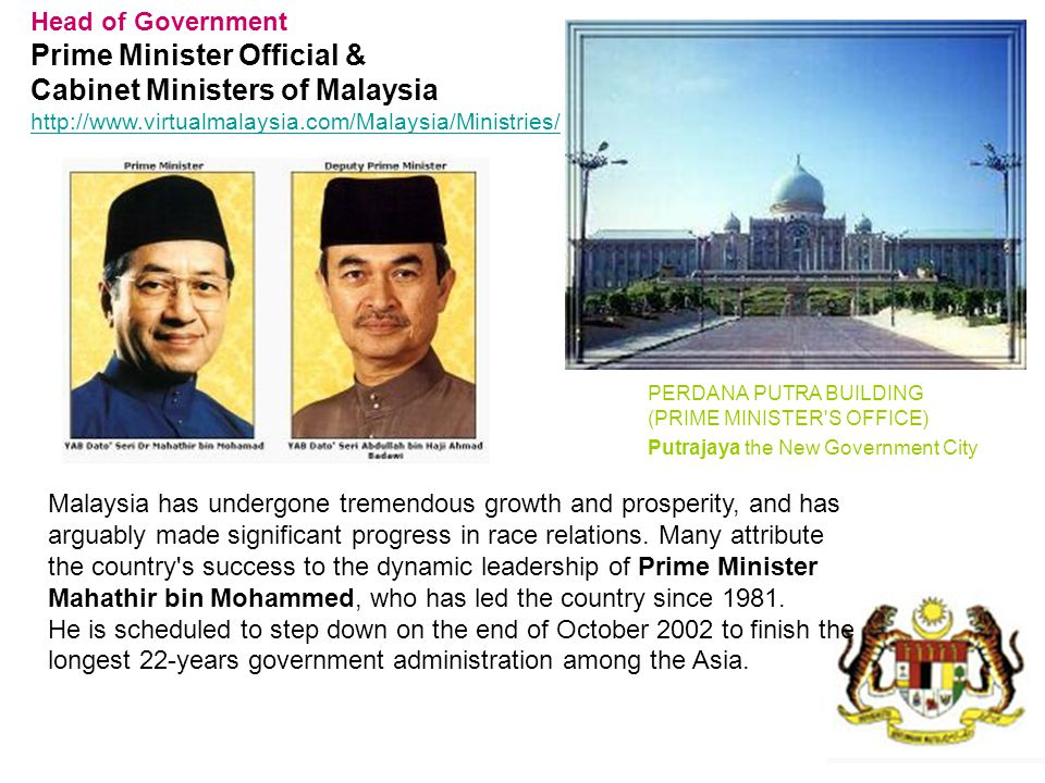 Prime Minister Official & Cabinet Ministers of Malaysia