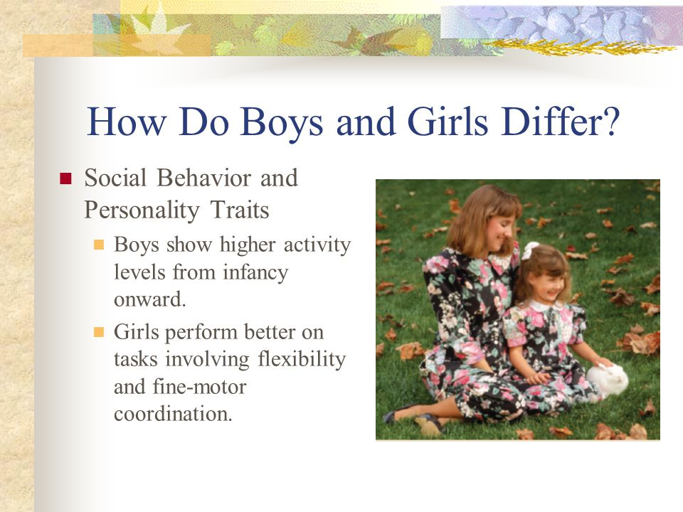 How Do Boys and Girls Differ