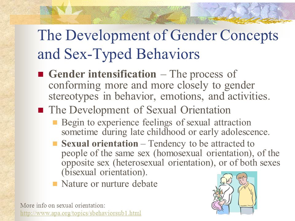 The Development of Gender Concepts and Sex-Typed Behaviors