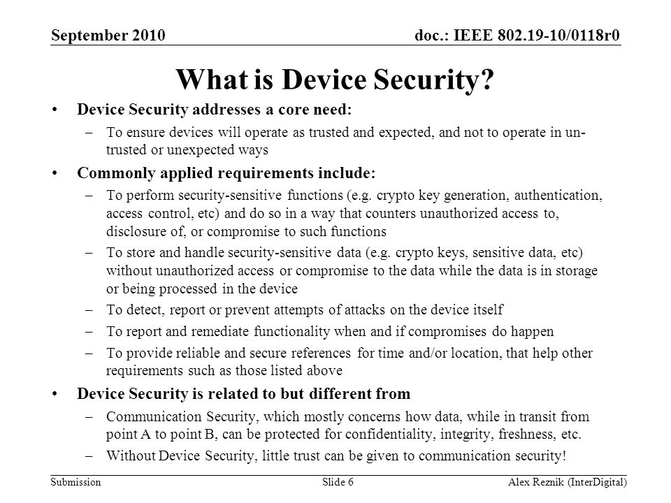 What is Device Security