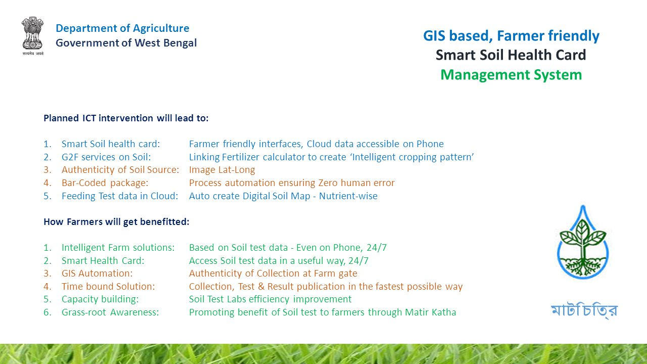 GIS based, Farmer friendly Smart Soil Health Card Management System