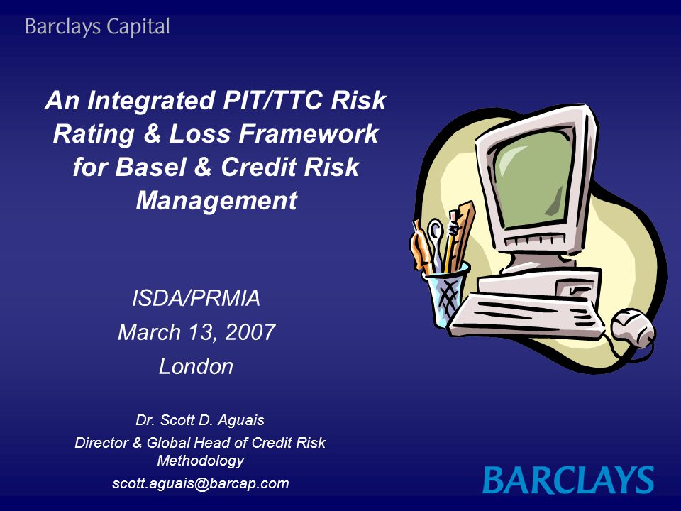 Director & Global Head of Credit Risk Methodology