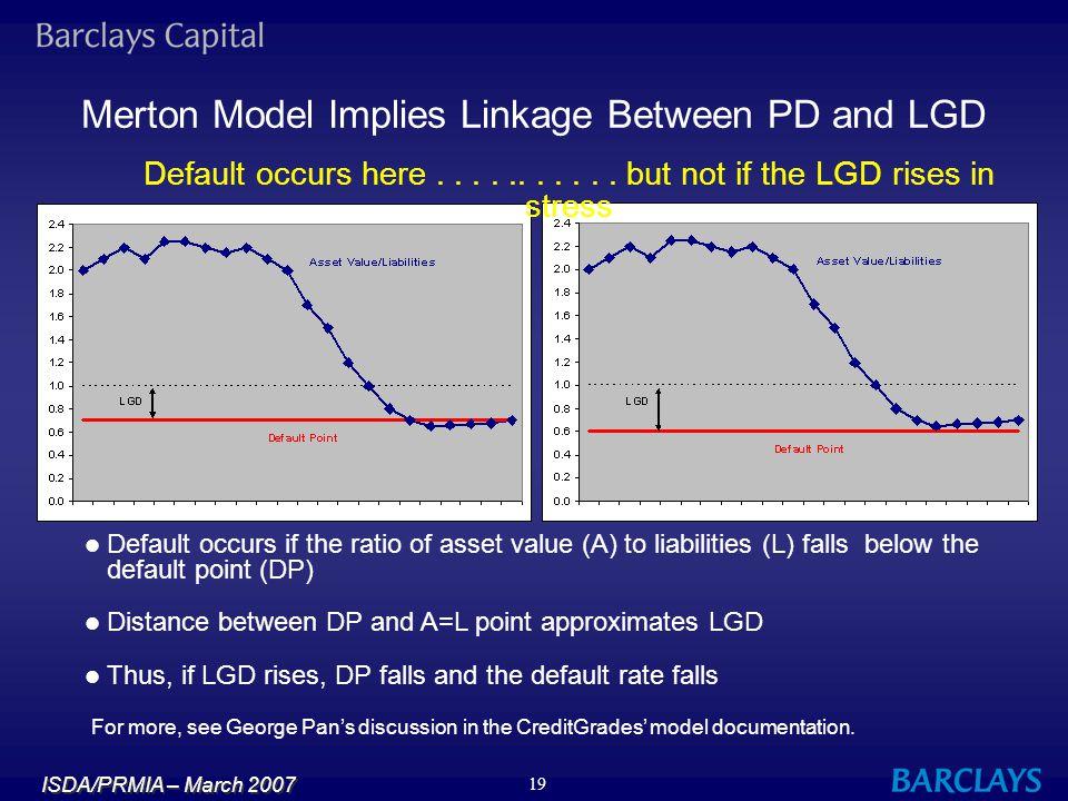 Merton Model Implies Linkage Between PD and LGD