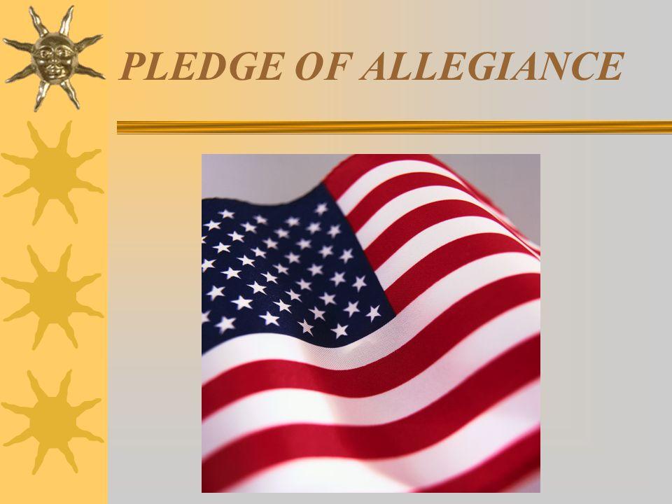 PLEDGE OF ALLEGIANCE citizenship august 05