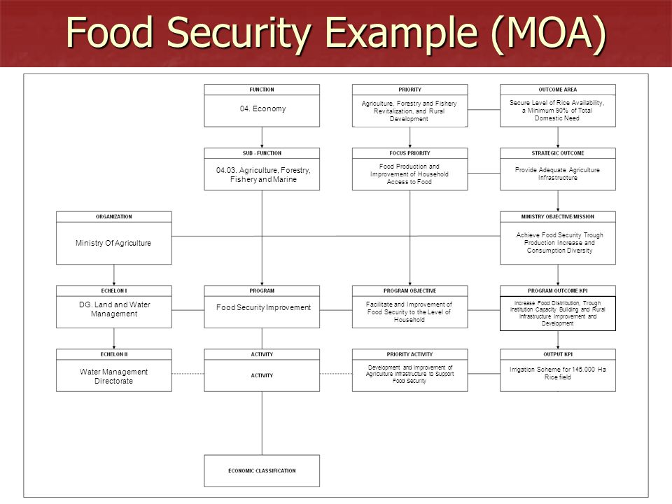 Food Security Example (MOA)