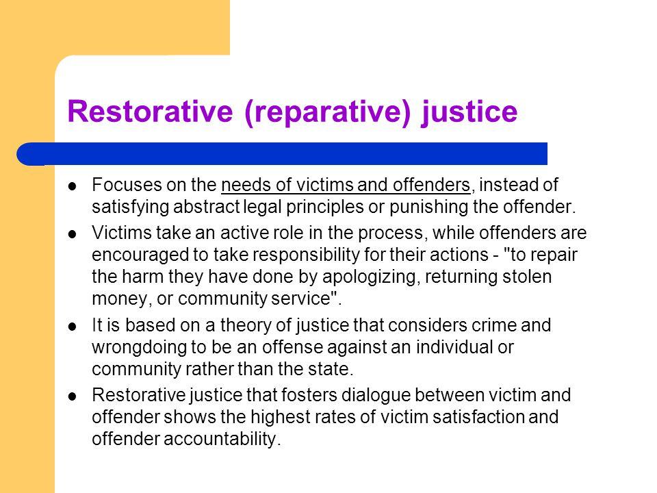 Restorative (reparative) justice