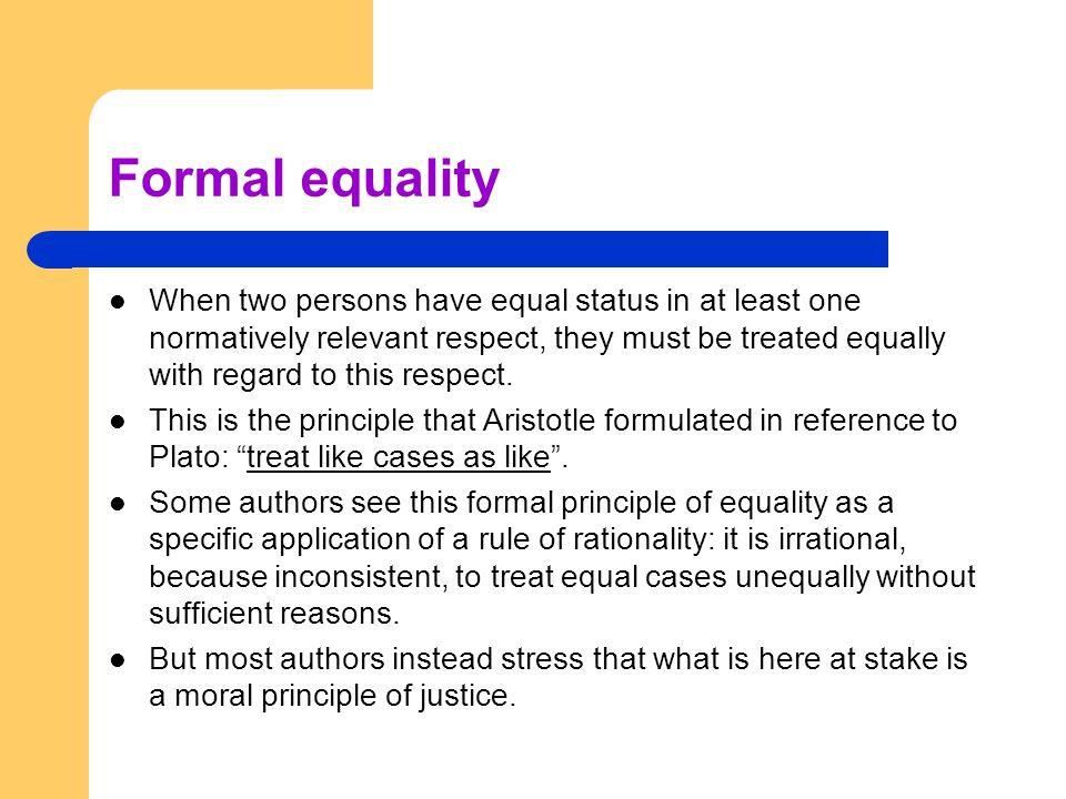 Formal equality