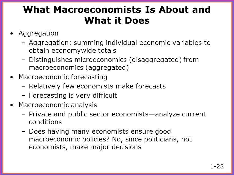 What Macroeconomists Is About and What it Does