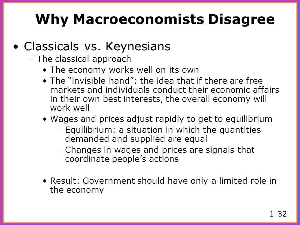 Why Macroeconomists Disagree