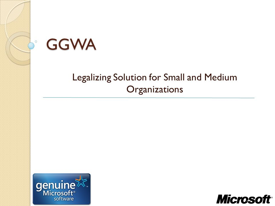 Legalizing Solution for Small and Medium Organizations