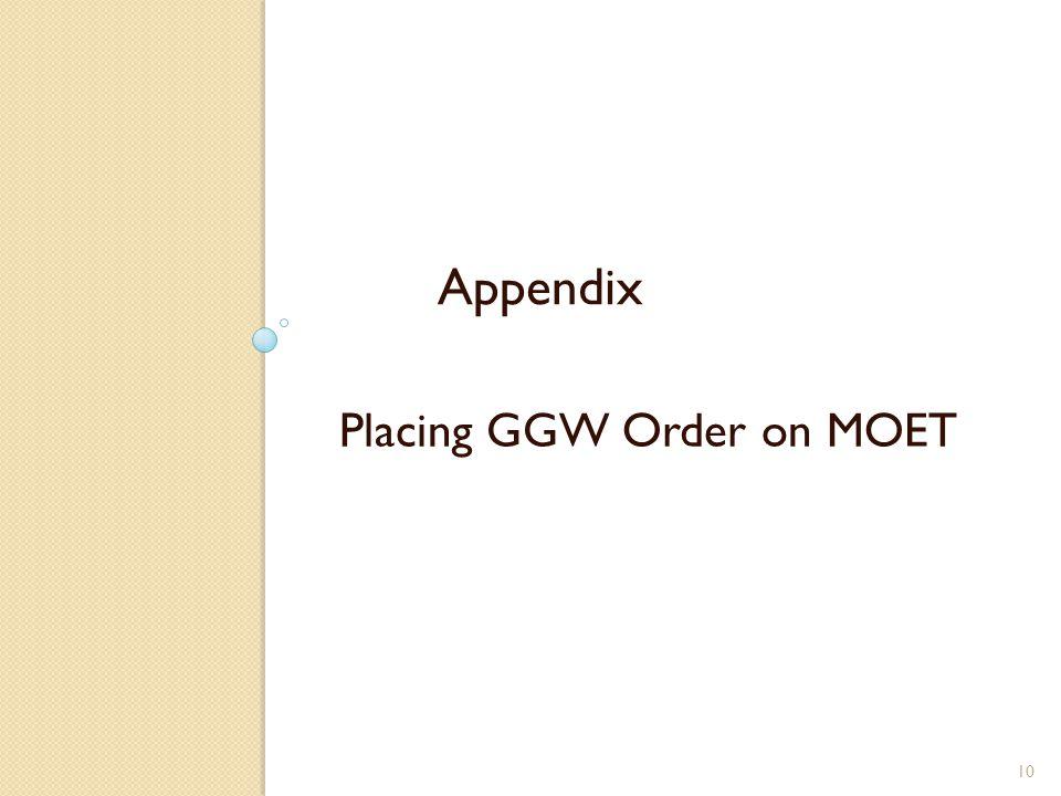 Placing GGW Order on MOET