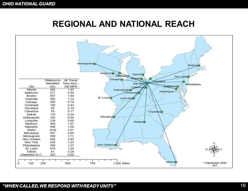 REGIONAL AND NATIONAL REACH