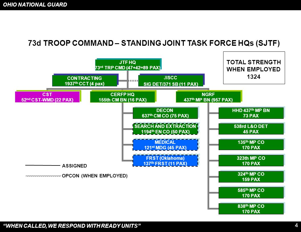 73d TROOP COMMAND – STANDING JOINT TASK FORCE HQs (SJTF)