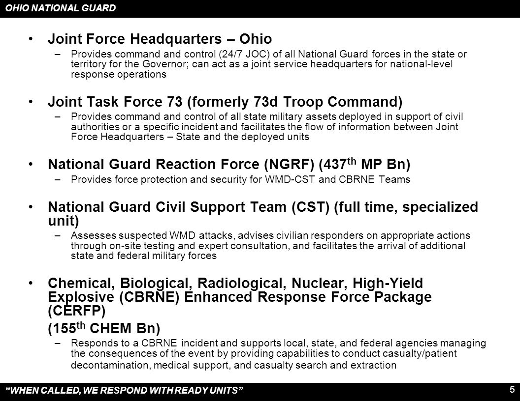 Joint Force Headquarters – Ohio