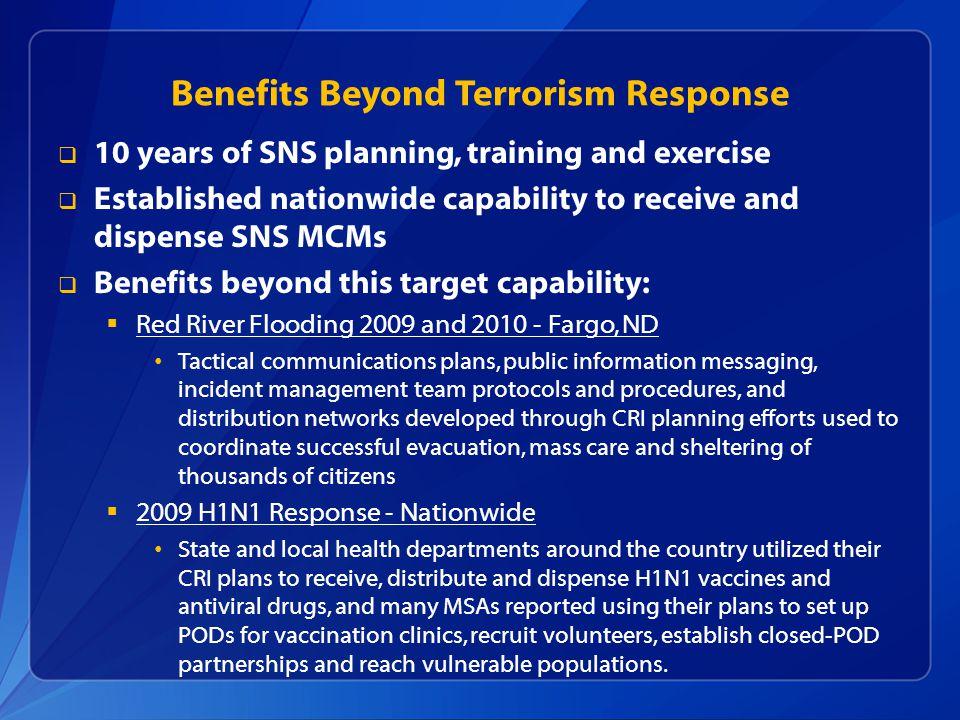Benefits Beyond Terrorism Response