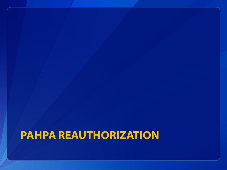 PAHPA Reauthorization