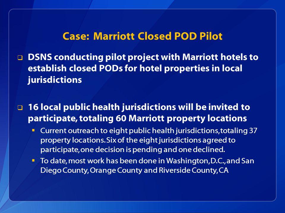 Case: Marriott Closed POD Pilot