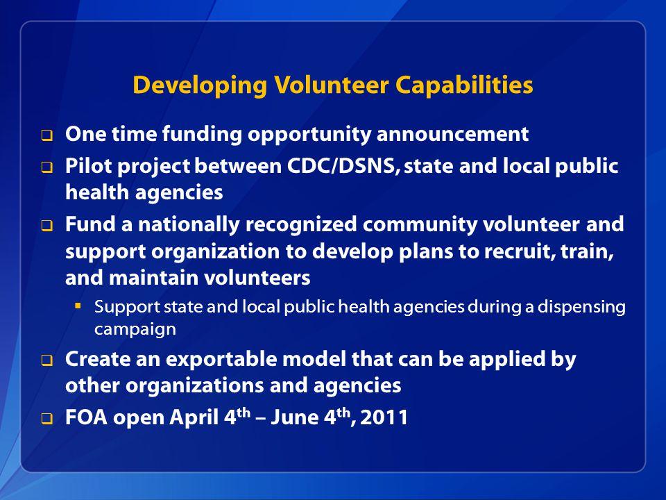 Developing Volunteer Capabilities