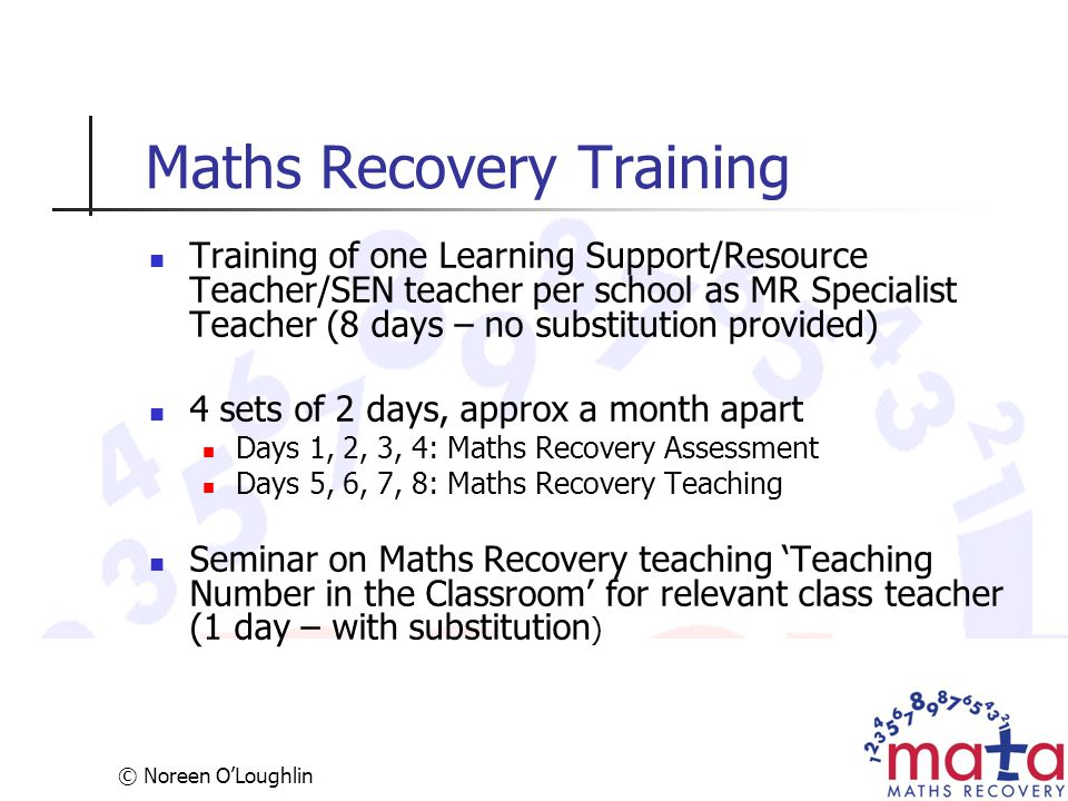 Maths Recovery Training