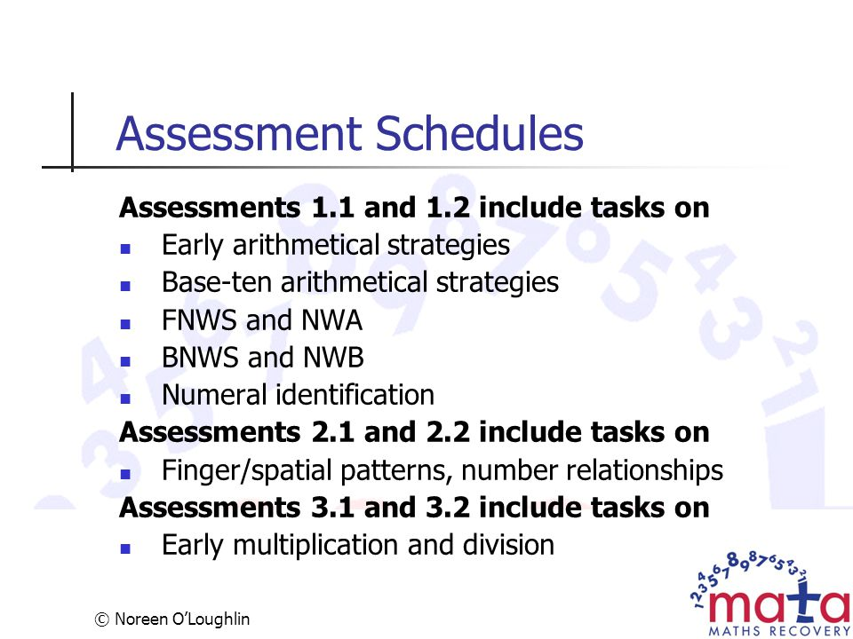 Assessment Schedules Assessments 1.1 and 1.2 include tasks on