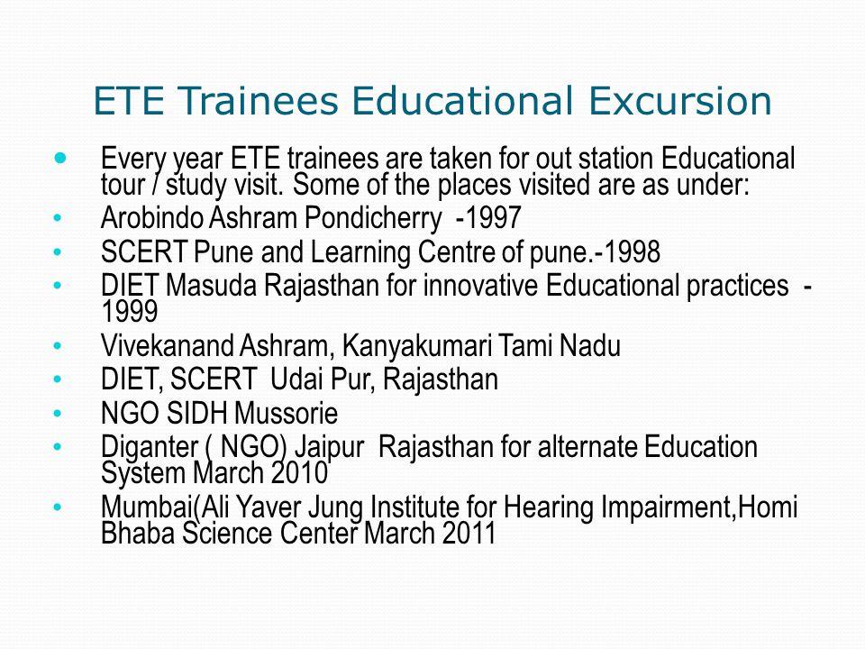 ETE Trainees Educational Excursion