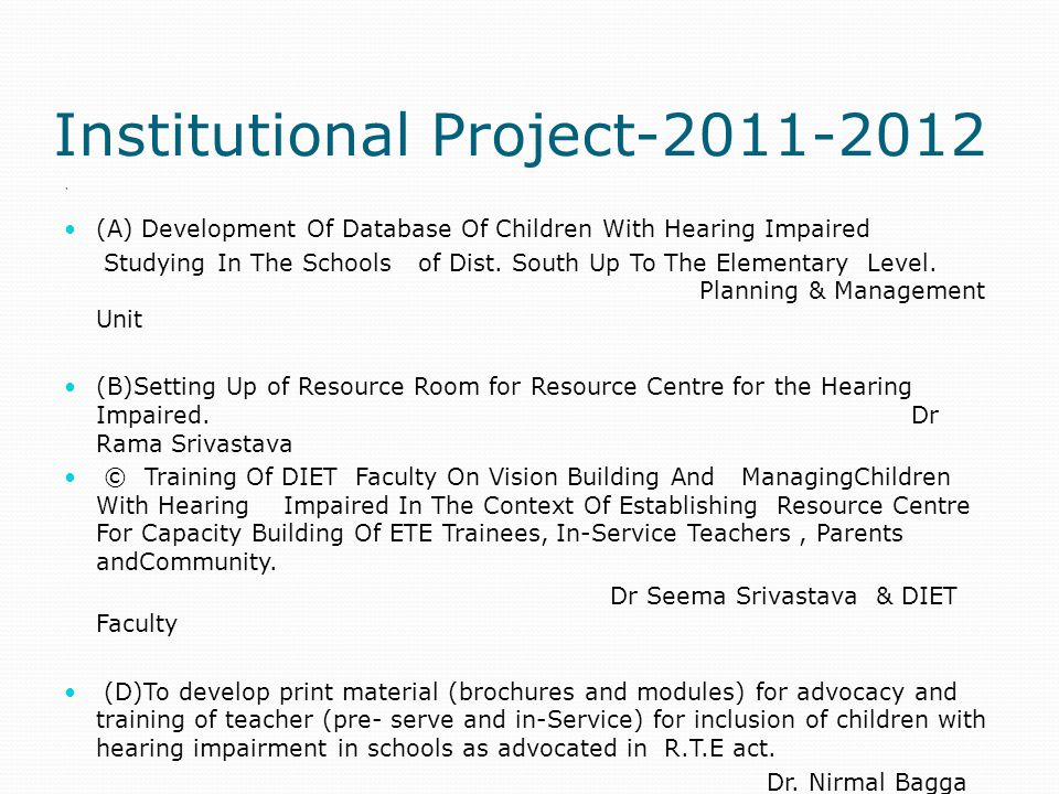 Institutional Project-2011-2012