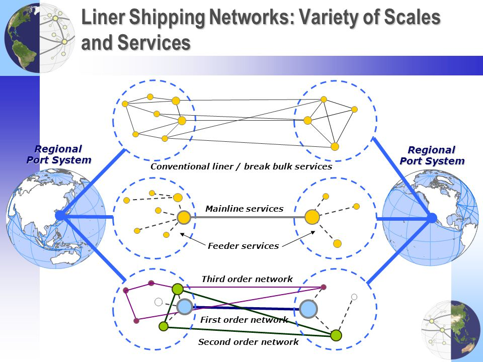 Liner Shipping Networks: Variety of Scales and Services