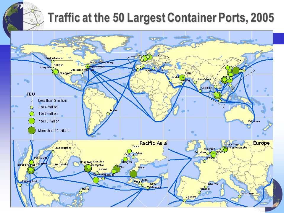 Traffic at the 50 Largest Container Ports, 2005