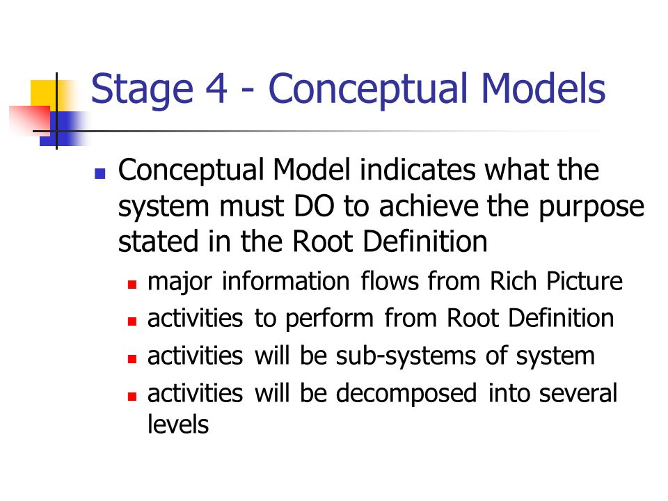 Stage 4 - Conceptual Models