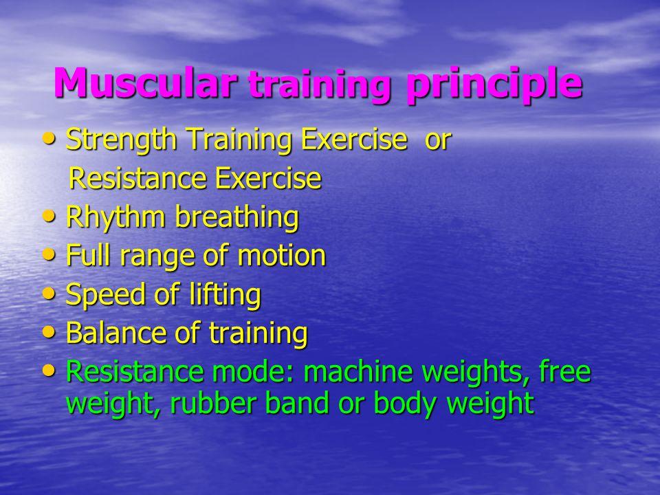 Muscular training principle