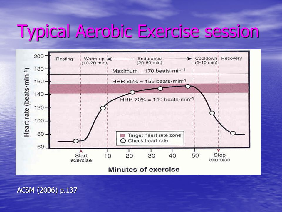 Typical Aerobic Exercise session