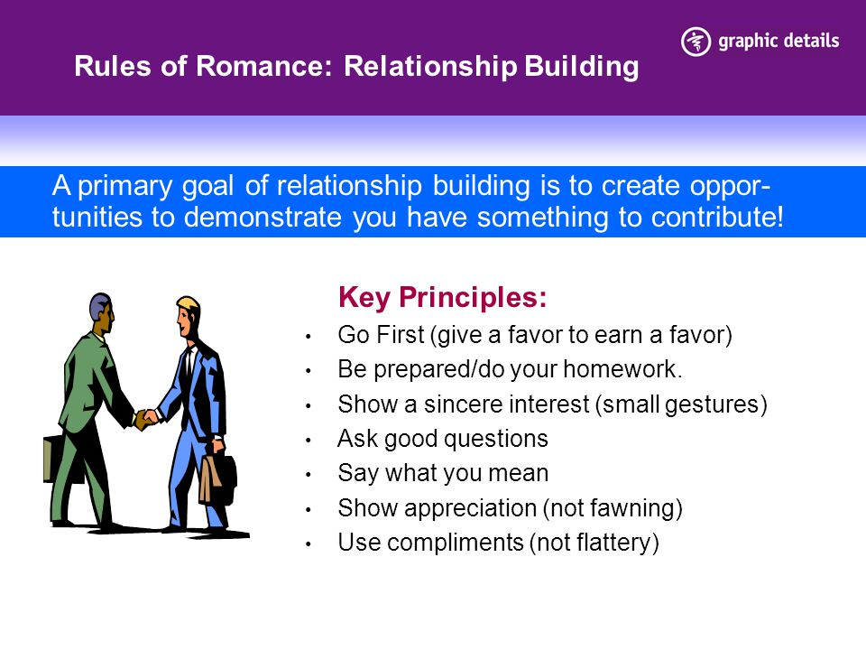 Rules of Romance: Relationship Building