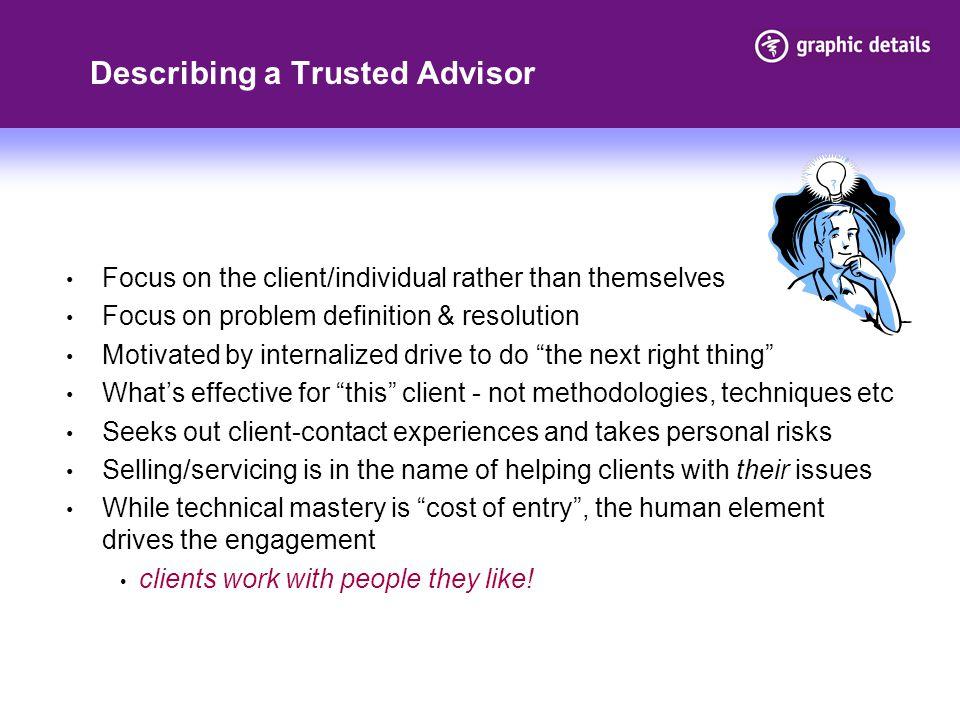 Describing a Trusted Advisor