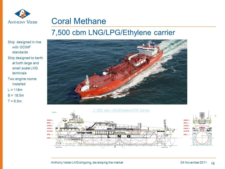 Coral Methane 7,500 cbm LNG/LPG/Ethylene carrier