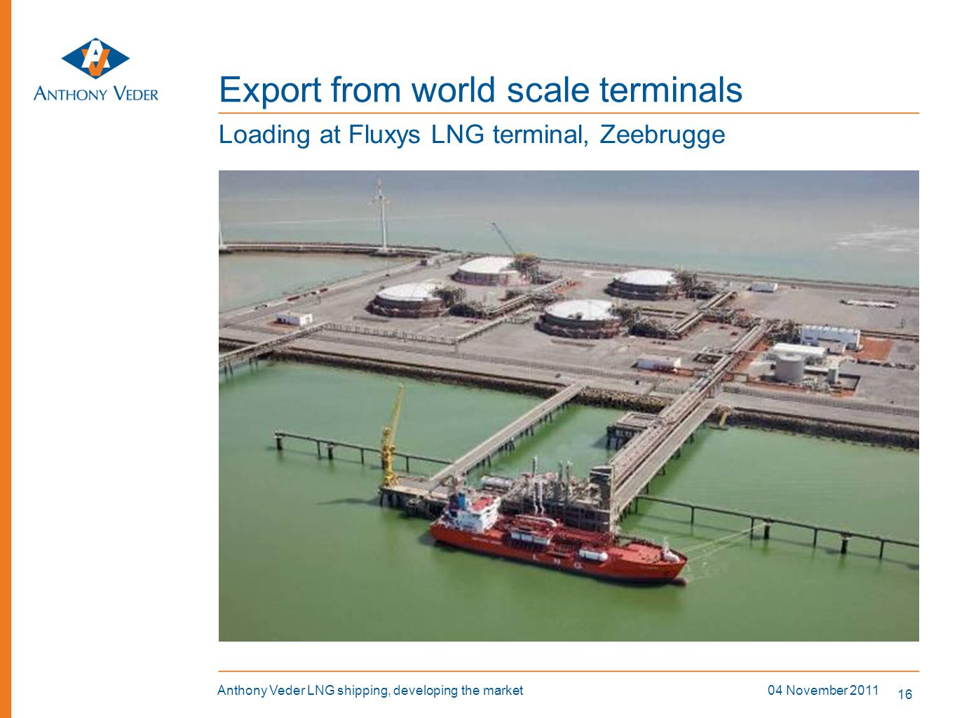 Export from world scale terminals
