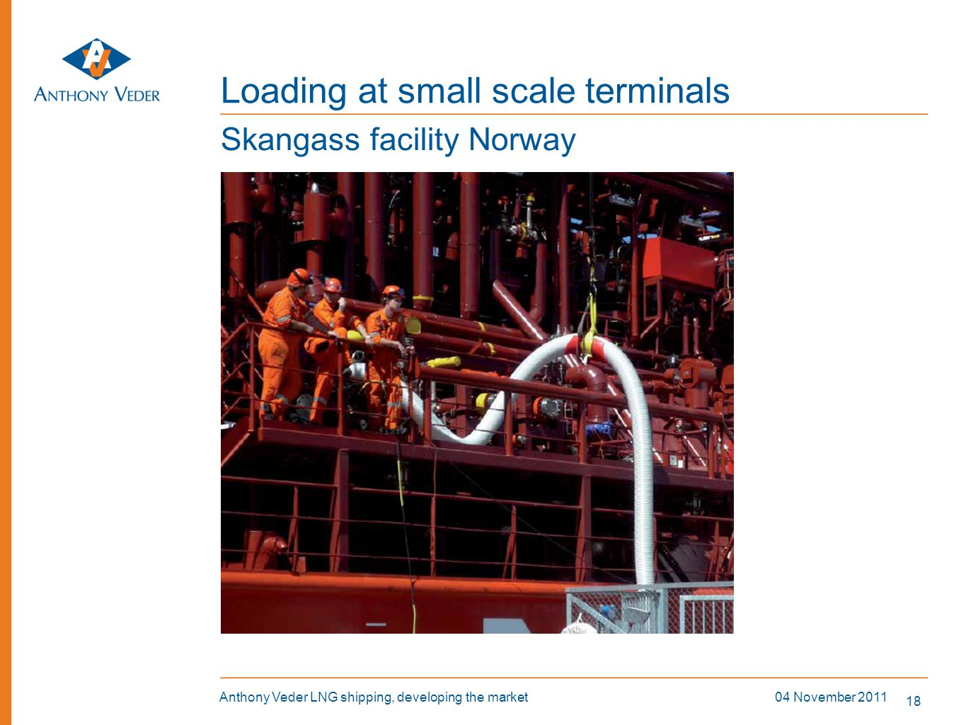 Loading at small scale terminals