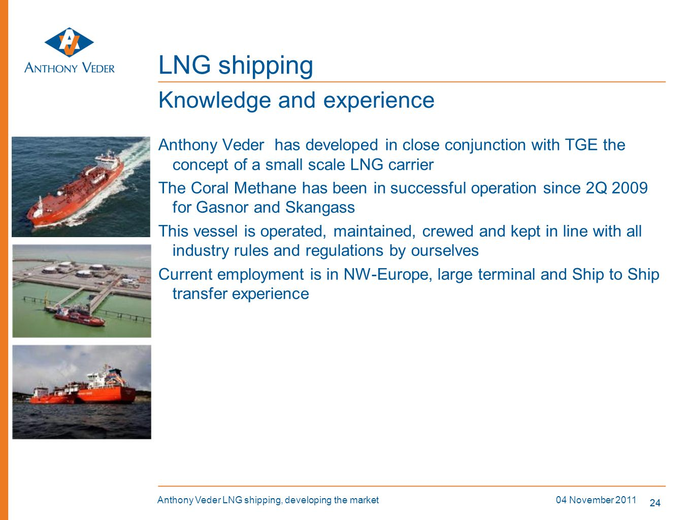 LNG shipping Knowledge and experience