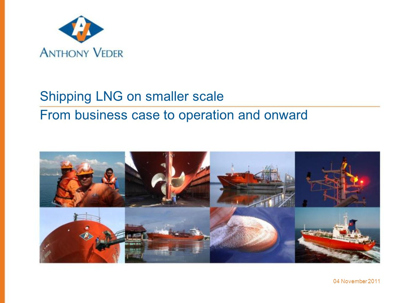 Shipping LNG on smaller scale